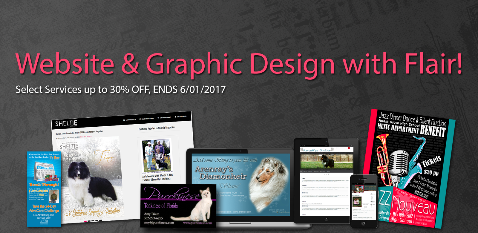 magazine publishers, graphic designers for show dog breeders, websites for dog and cat breeders